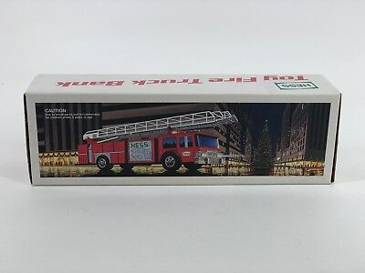 1986 Hess Toy Fire Truck Bank In Original Box(17759-1E)