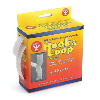 Hygloss Products Hook & Loop Fastener Roll   3/4X5Yd 2 Pk 45105