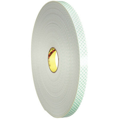 """3M 4008 Double Sided Foam Tape 3/4"""" x 5 yds. 1/8"""" Natural 1/Case T9544008R"""