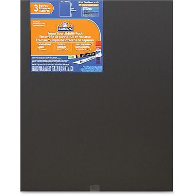 "Elmers Foam Board Multi-Pack 16'x20"" 3/PK Black 950025"