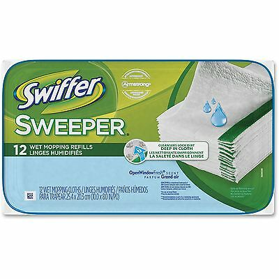 Procter & Gamble Swiffer Sweeper Wet Cloth Refill 12shts/PK White 95531