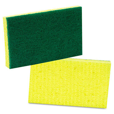 Scotch-Brite Medium-Duty Scrubbing Sponge 3 1/2 x 6 1/4 Yellow/Green 20/Carton
