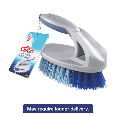 "Mr. Clean Iron Handle Brush 6 1/2"" Brush 1 1/2"" Bristles Gray/Blue 4/Carton"