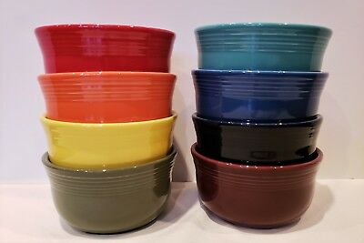 Fiesta Fiestaware, New Flawed 2nds, Lot of 8 Gusto Soup Chili Bowls,Mixed Colors