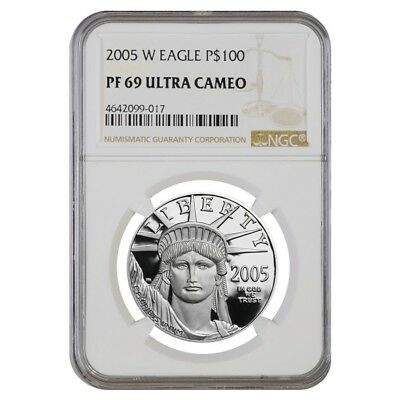 2005 W 1 oz $100 Platinum American Eagle Proof Coin NGC PF 69 UCAM
