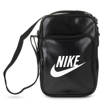 e4b29d9977 Shoulder Bag Nike Heritage Flight Portable Messenger Bag Black 3 Pockets  Sports