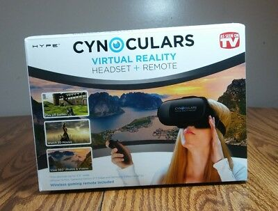 Cynoculars Virtual Reality Headset Viewer + Wireless Gaming Remote As Seen On TV