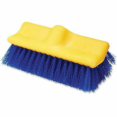 "Rubbermaid Commercial Floor Scrub Brush 10"" Long Blue/Yellow 633700BE"