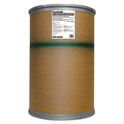 Boardwalk Oil-Based Sweeping Compound Grit Green 300lbs Drum A6COHO