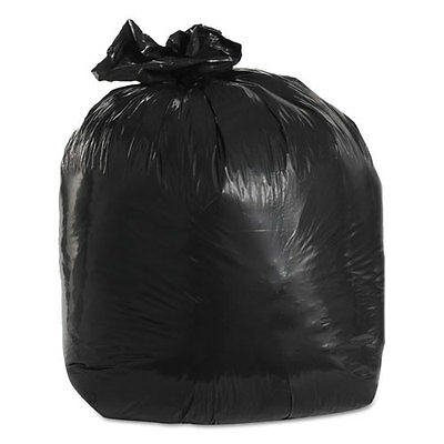 Trinity Packaging Low-Density Can Liners 1.5mil 20gal 30w x 36h Black 100/Carton