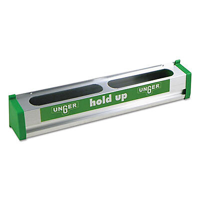 "Unger Hold Up Aluminum Tool Rack 18"" Aluminum/Green HU45"
