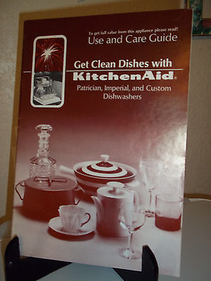 KitchenAid Manual Use Care Guide Booklet