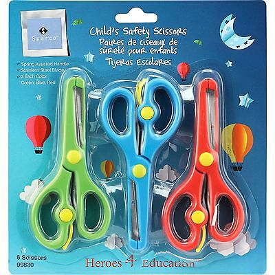 Sparco Child Safety Scissors 6/PK AST 99830