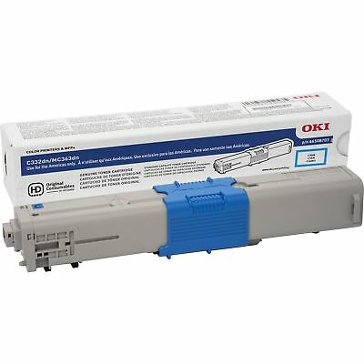 OKI Toner Cartridge f/C332/MC363 3 000 Page Yield CYN 46508703