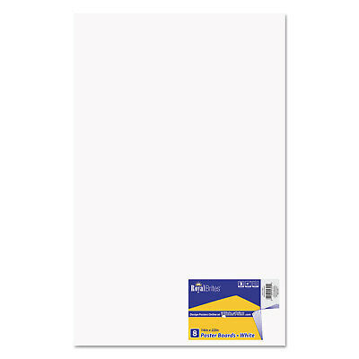 Royal Brites Premium Coated Poster Board 14 x 22 White 8/Pack 24324