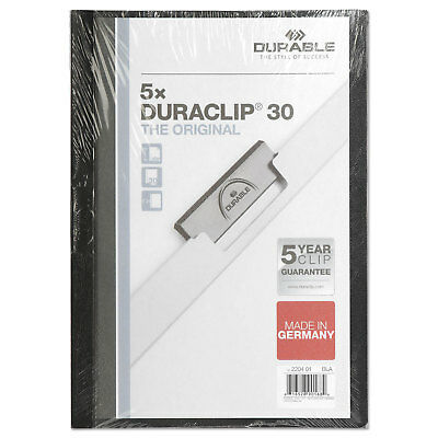 Durable DuraClip Report Cover 8 9/10 x 11 1/5 Clear 5 per pack 220401