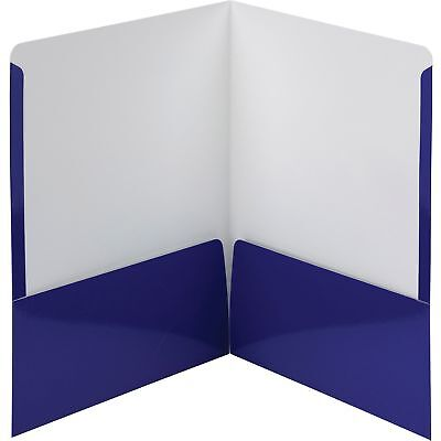 Smead Folders 2-Pocket High Gloss Letter-size 25/BX Navy 87877