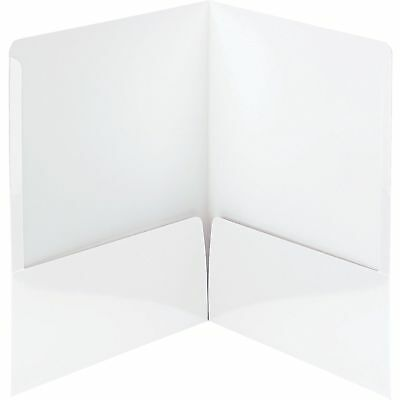 Smead Folders 2-Pocket High Gloss Letter-size 25/BX White 87883