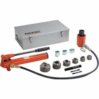 Ridgid 23477 1/2-Inch to 2-Inch Hydraulic Knockout Kit with Hand Pump