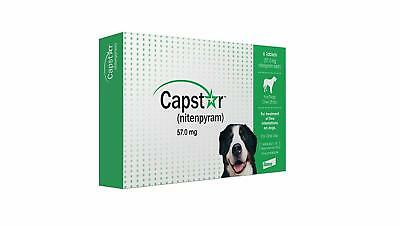 Capstar Flea Control Tablets For Dogs over 25 lbs 6 tablets Green Free Shipping