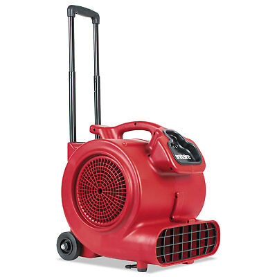 Sanitaire DRY TIME Air Mover with Wheels and Handle, 1281 cfm, Red, 20 ft Cord