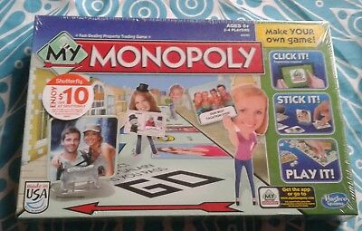 New Sealed Hasbro My Monopoly Board Game