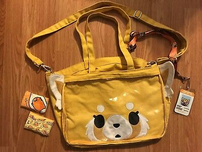 Sanrio Aggretsuko Red Panda A Favorite Thing Bag Bundle With ID Tag And Tissues