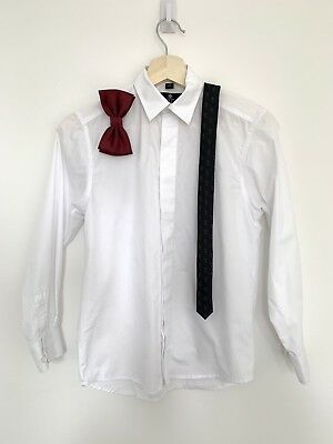 Boys Dress Shirt With Tie And Bow Tie Size 13