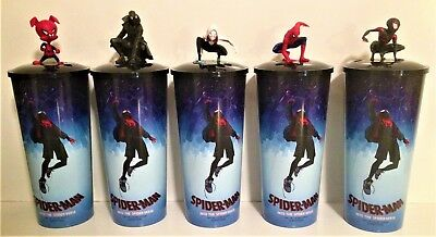 Spider-Man Into the Spider-Verse Movie Theater Exclusive Cup Topper Set 44 oz Cu