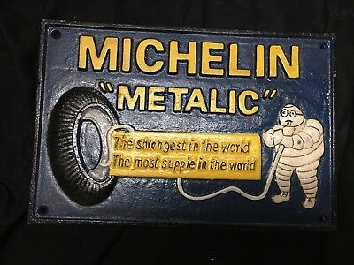 Cast-Iron Hand-Painted Michelin Metallic Signed 1938 London