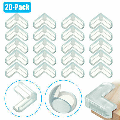20-Pack Baby Kids Safety Desk Table Edge Corner Adhesive Guard Protector Cushion