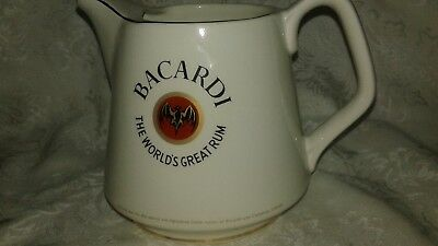 Bacardi The World's Great Rum Arklow Made In Ireland Pitcher