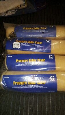 """4 Graco Pressure Roller Cover # 186945  12"""" X 3/4"""" nap   FREE SHIP"""
