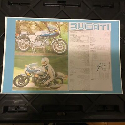 Vintage Ducati Motorcycle Advertisement Poster