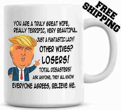 Gift for WIFE, Donald Trump Great Wife Funny Mug
