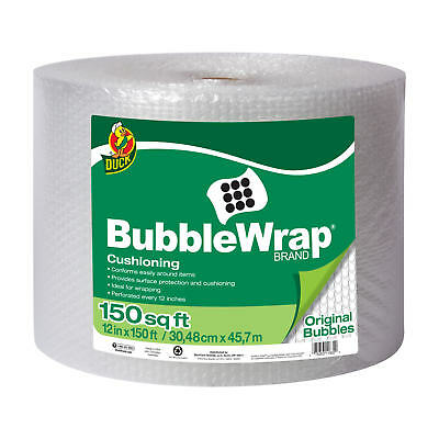 Duck Brand Original Bubble Wrap Cushioning - Clear, 12 in. x 150 ft. NEW!!!
