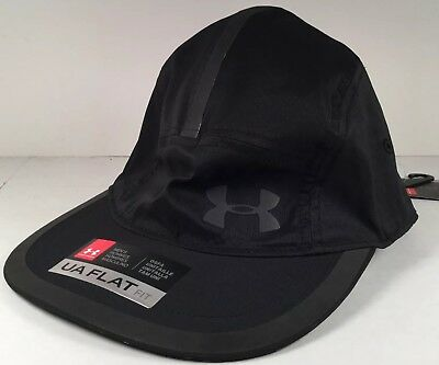 Mens UNDER ARMOUR Threaborne Run Cap Hat Adjustable Black Reflective NWT