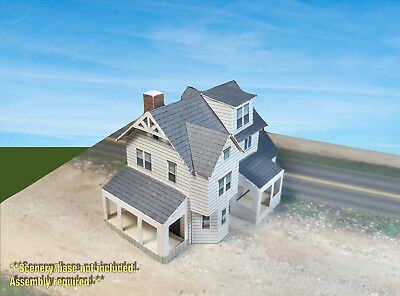 N Scale Building - House - Pre-Cut Card Stock PAPER Model Kit WHN1