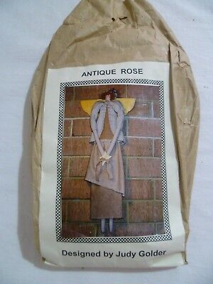 Judy Golder ANTIQUE ROSE Angel Cloth Doll Sewing Kit Pattern Fabric Trim COMPLET