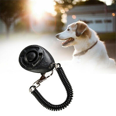 Pet Dog Puppy Clicker Trainer Training Obedience Aid Tool Wrist Strap Universal