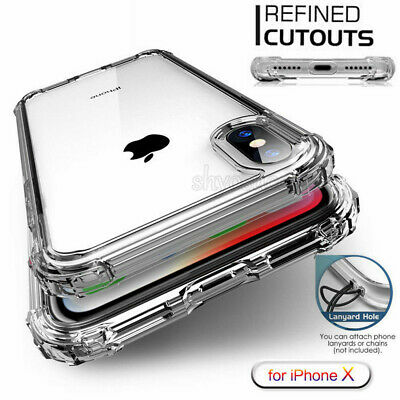 Shockproof For iPhone 7 8 X XR Xs Max Case TPU Silicone Protective Bumper Cover