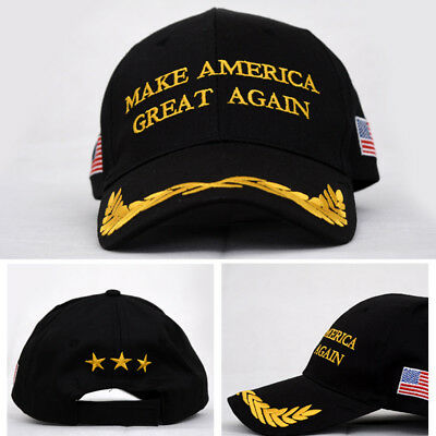 DONALD TRUMP MAKE AMERICA GREAT AGAIN USA FLAG REPUBLICAN HAT EMBROIDERED GB6n