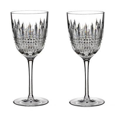 Waterford Crystal Lismore Diamond Set of 2 Red Wine Glasses, 10 oz.