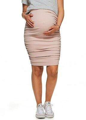 New - Bae - Count Your Blessings Maternity Skirt in Pink Stone