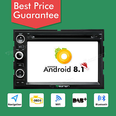 "For Ford F150 Double Din 7"" Android 8.1 Car DVD Stereo Radio GPS Navi 1024*600 B"