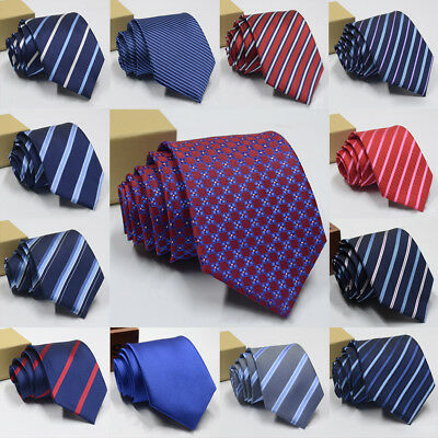 100% Silk Tie Slim Mens Ties Narrow Business Men Jacquard Woven Necktie Neckwear