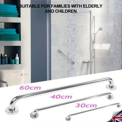 DISABLED GRAB RAIL BAR BATHROOM AID PULL PUSH DOOR METAL HANDLE 3/4/5/600MM New