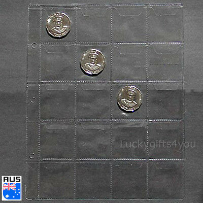 10 Page Penny Coin Collecting Holder 20 Pockets Storage Folder Album Book Sleeve