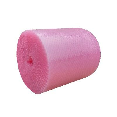 """3/16"""" Small Bubble Cushioning Wrap Anti-Static Roll 50'x 12"""" Wide 50FT 12"""" Pink"""
