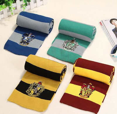 Harry Potter Scarf Scarves Gryffindor Slytherin Hufflepuff Ravenclaw Cosplay